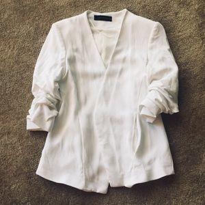 Zara Woman White Blazer